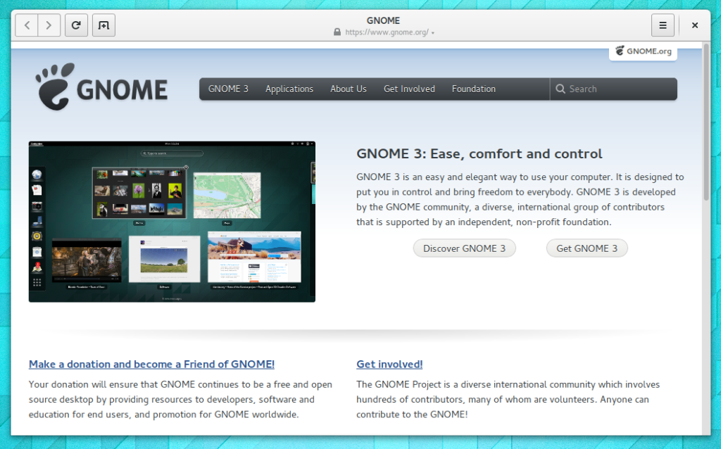 New Gnome web browser