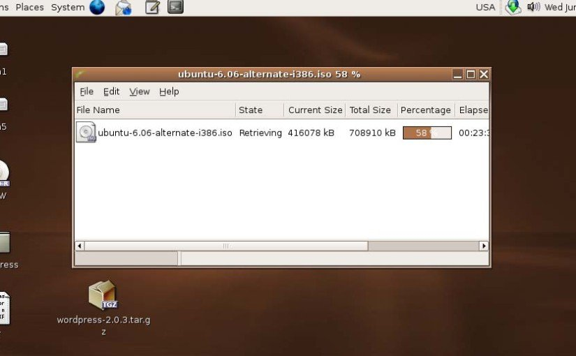 Gwget - Download Manager for Gnome