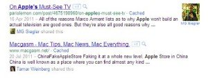 social recommendations in search results