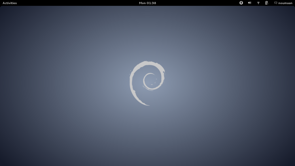 Screenshot of Debian Desktop