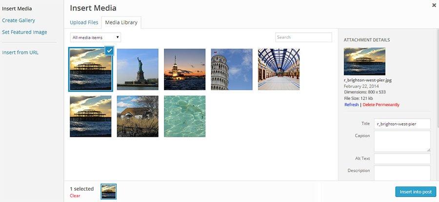 Displaying image file size in media uploader